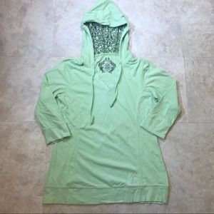Danskin Green Hooded Top Size M
